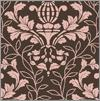 Tissu Bernatex - Damask Pink/Chocolate