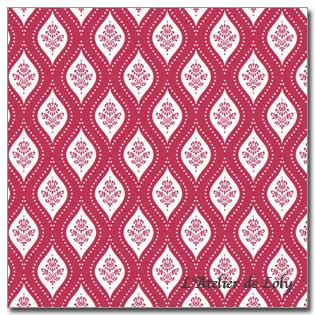 Tissu Tilda - Onion Red on Red