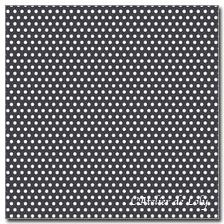 Tissu Tilda - White Dots on Black